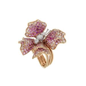 anello-oro-rosa-diamanti-zaffiri-rosa-butterfly-ddonna-gioielli